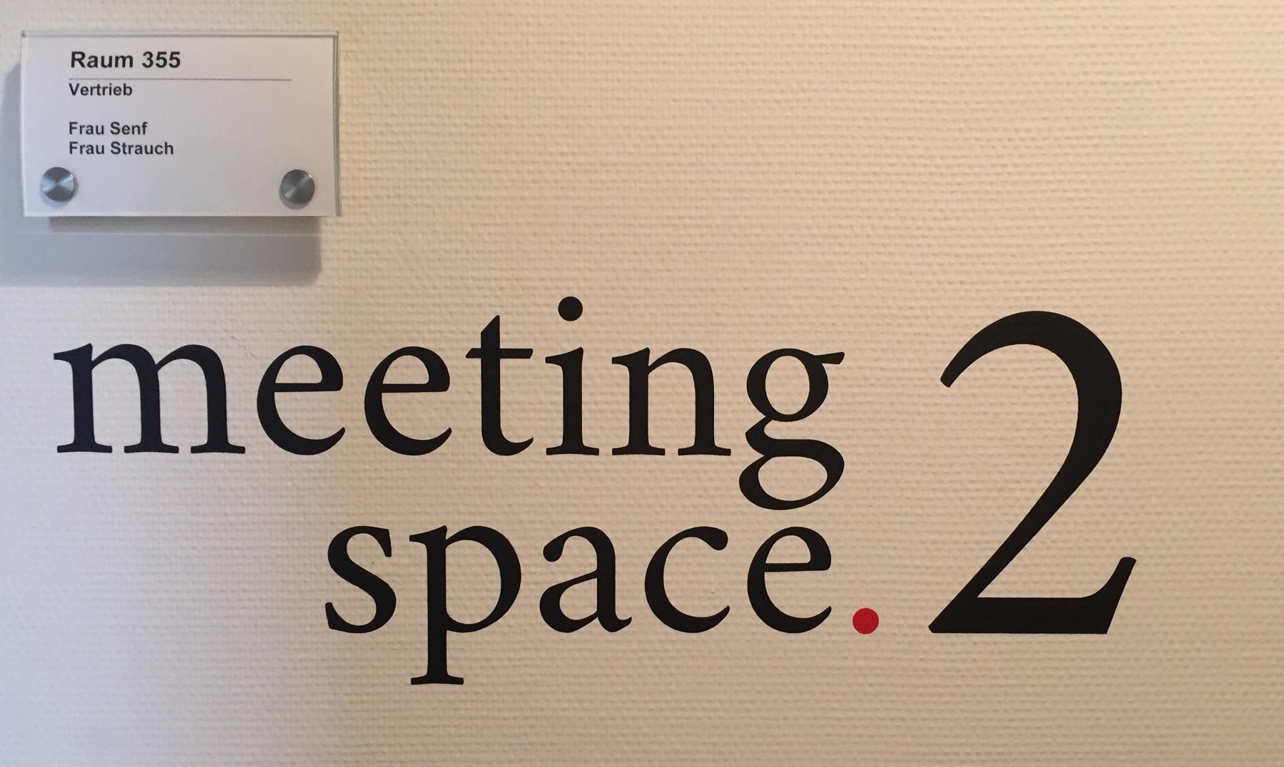 Meeting-Raum-Plakette